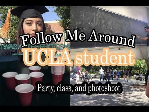 Follow me around: UCLA Student (class, party, tutoring, photoshoot)