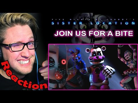 """""""Join Us For A Bite"""" - FNAF SISTER LOCATION Song by JT Machinima REACTION! 