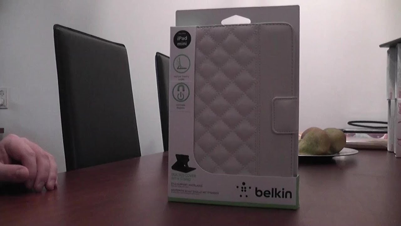 Belkin white quilted iPad mini case unboxing - YouTube : quilted ipad case - Adamdwight.com