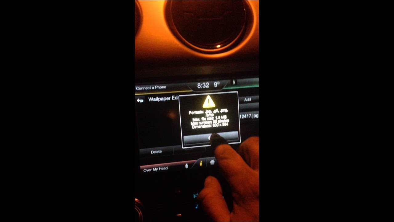 2015 Mustang Ford Mytouch Background Change How To Youtube