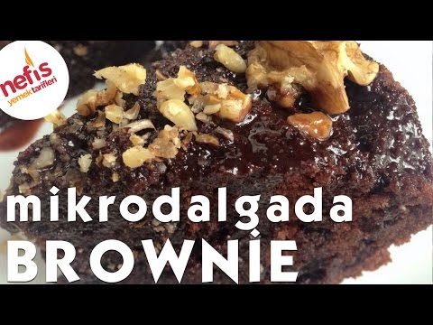 Mikrodalgada Brownie - 7dk da Islak kek yapımı