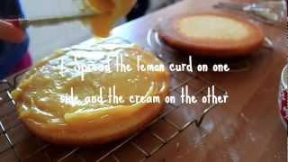 Lemon Curd and Cream Cake