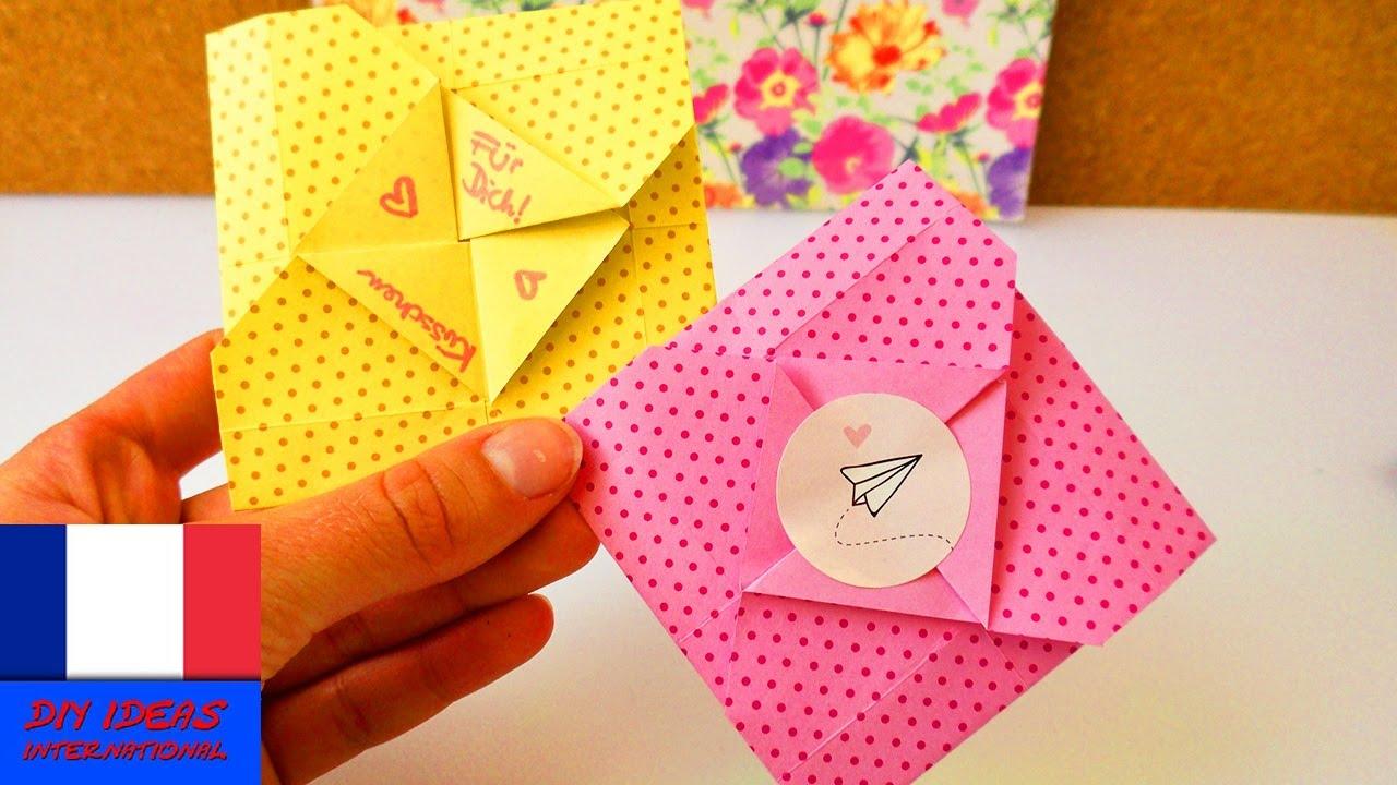 jolie lettre en origami pour ecrire des petites lettres