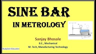 Sine bar in metrology
