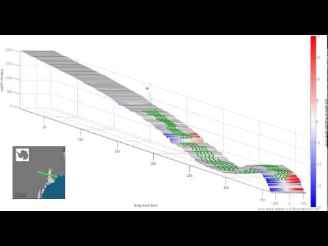Airborne lidar data collection for ICESat slope correction