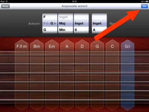 Change and edit chords in GarageBand on iPad - YouTube