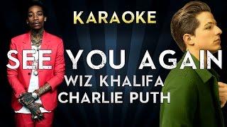 Wiz Khalifa ft. Charlie Puth - See You Again   Lower Key Karaoke Instrumental Lyrics Cover
