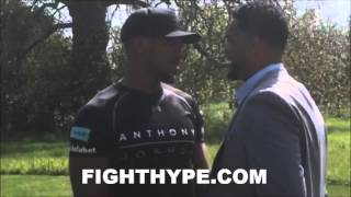 ANTHONY JOSHUA AND DOMINIC BREAZEALE TRADE WORDS; SEPARATED AFTER LONG, INTENSE FACE OFF