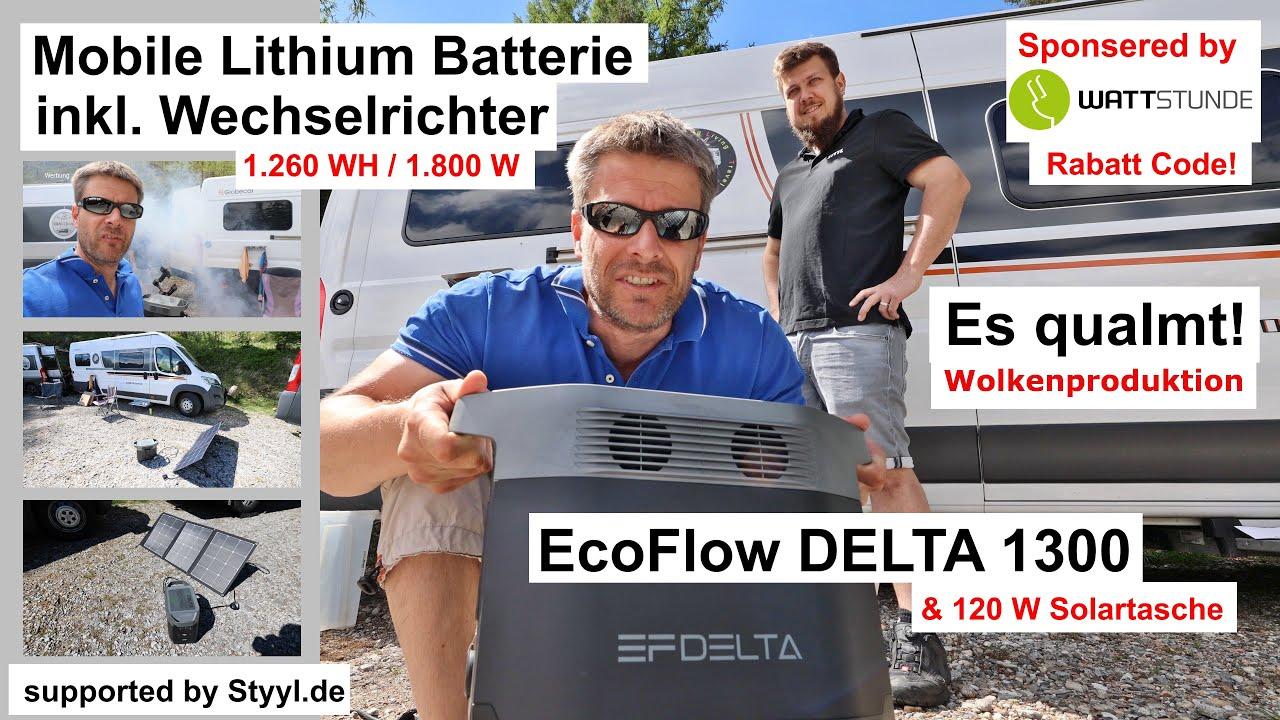 Mobile Lithium Batterie, 1260 WH, 1.800 W | EcoFlow DELTA Power Station 1300 | Wattstunde Solarpanel