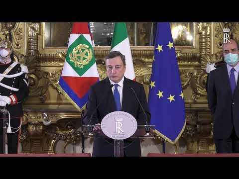 Dichiarazioni alla stampa Prof. Mario Draghi