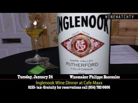 Inglenook Wine Dinner at Cafe Maxx with winemaker Philippe Bascaules - click image for video