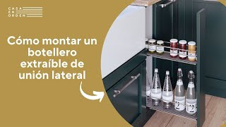 Tutorial: Montaje de botellero extraíble de rejilla de unión lateral para mueble de cocina