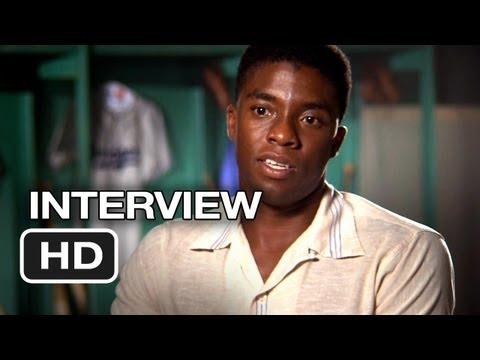 42 Interview - Chadwick Boseman (2013) - Jackie Robinson Movie HD