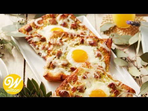 Sausage and Pesto Breakfast Egg Pizza Recipe