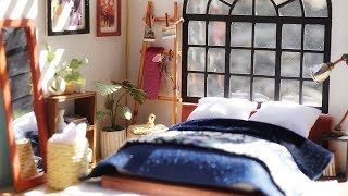 DIY Dollhouse Miniature Bedroom| Robotime