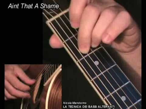 Aint That a Shame, Fats Domino - fingerpicking + TAB! Learn to play, guitar lesson