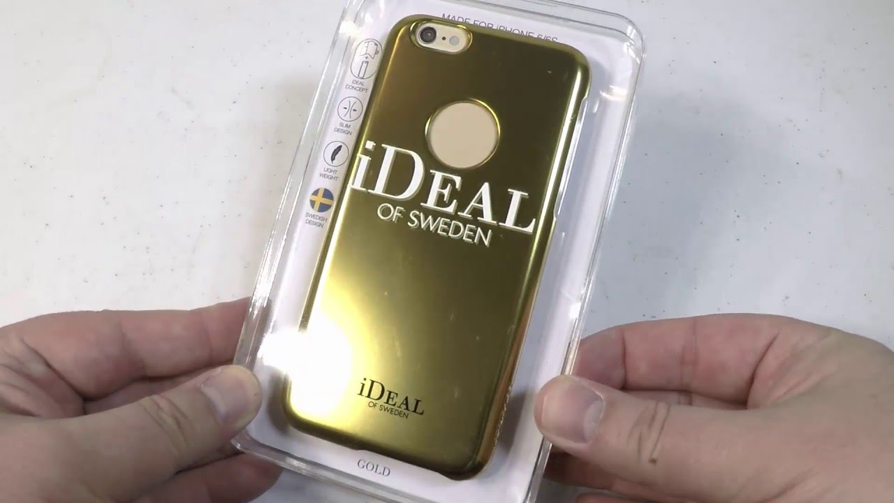 ideal of sweden fashion case iphone 6 6s gold unboxing. Black Bedroom Furniture Sets. Home Design Ideas