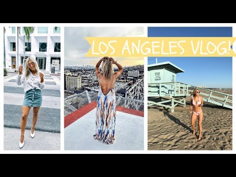 LOS ANGELES TRAVEL VLOG! WHAT TO DO IN LA, SHOPPING, FOOD, SANTA MONICA, VENICE, MELROSE |