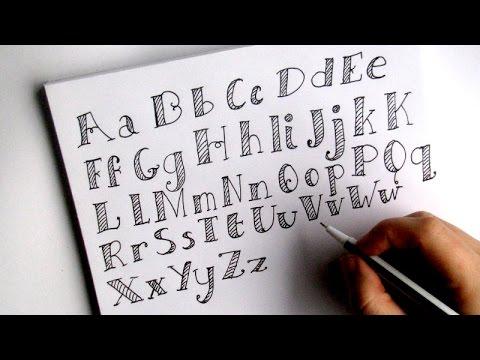 Handletter Alfabet Quot Bold Quot Oefenen Handletteren Youtube