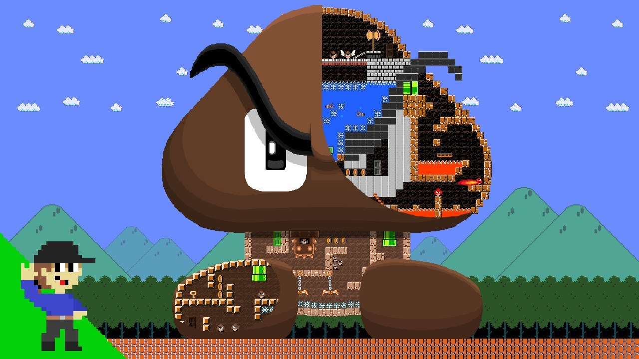 Level UP: Mario vs the Giant Goomba Maze
