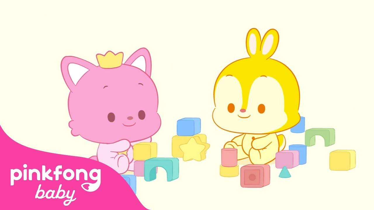 [핑크퐁 베이비] 아기 핑크퐁과 알록달록 블록놀이! | 유아 음악듣기 | @Pinkfong! Baby Friends 핑크퐁 베이비 프렌즈