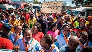 South African Students Congress (Sasco) marched from Khayamandi to Stellnbosch University to protest against a lack of transformation, particularly with regards to Afrikaans still being used as a teaching medium.