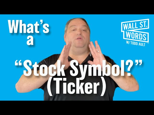 Wall Street Words word of the day = Stock Symbol
