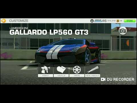 Real Racing 3: I Redesigned My Lamborghini Gallardo Lp560 GT3!