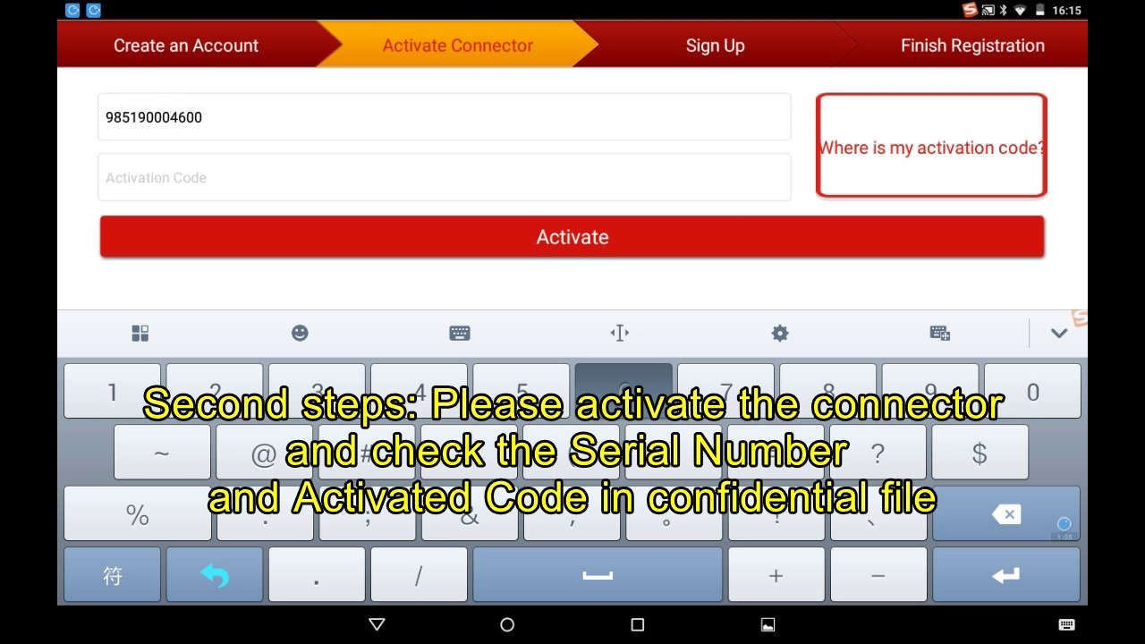 launch x431 serial number and activation code