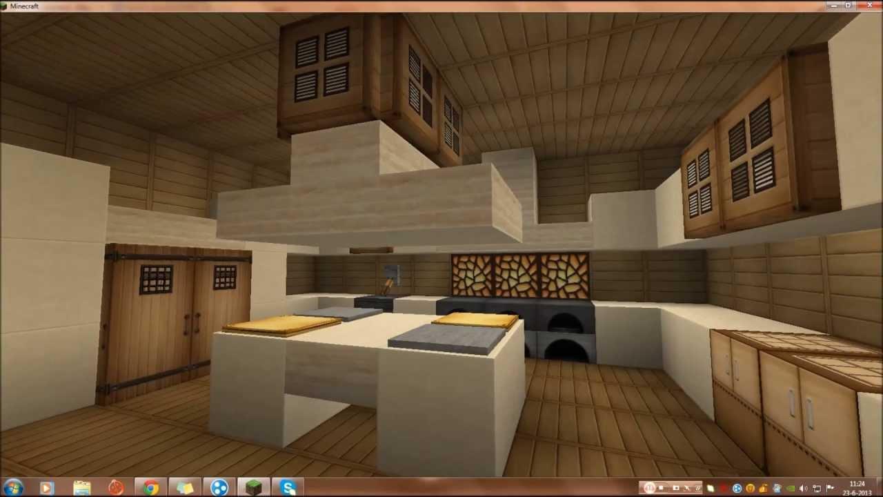 Minecraft hoe maak je een keuken hd youtube - Hoe je een eigentijdse inrichting van ...