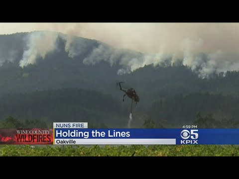 Oakmont Fire Grows, May Merge With Nuns Fire Complex In Napa County