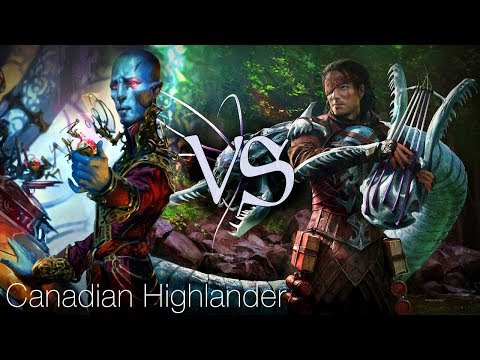 MtG Canadian Highlander Gameplay - Dovin Control VS Kiki-Pod