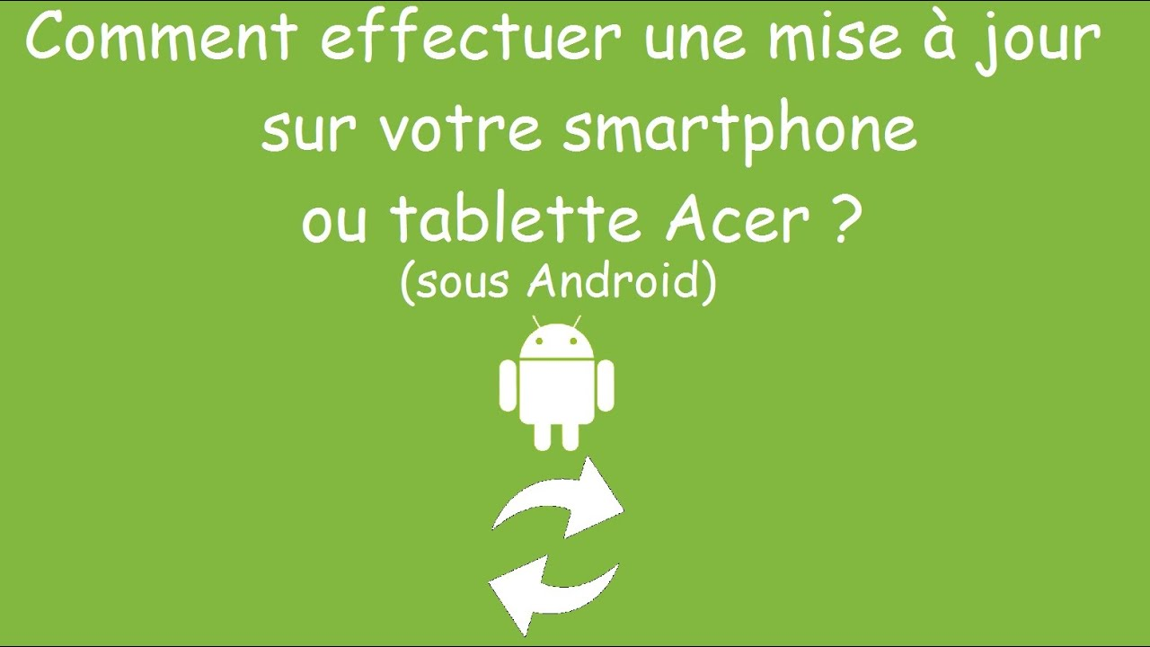 comment effectuer une mise jour sur son smartphone acer par acer actu youtube. Black Bedroom Furniture Sets. Home Design Ideas