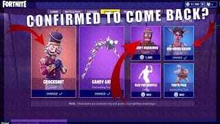 *NEW* Fortnite: CHRISTMAS SKINS RETURNING SOON? (Merry Marauder and Yuletide Ranger)