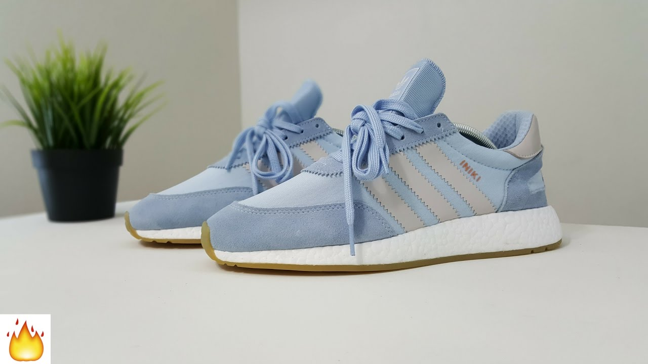Adidas Iniki Runner Boost Blue   Gray - Review   On feet - YouTube 8e6c20bddb5c
