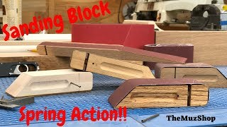 Make a Sanding Block with Spring Action Locking!!