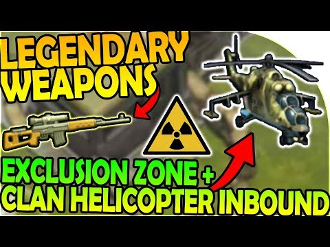 LEGENDARY WEAPON + EXCLUSION ZONE + CLAN HELICOPTER INBOUND- Last Day On Earth Survival 1.6.9 Update
