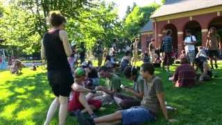 Portland Mercury interviews Food Not Bombs at Colonel Summers Park Portland OR 7/8/2013