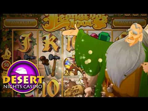 Desert Nights Casino's New Leonardo's Loot Online Slot Game