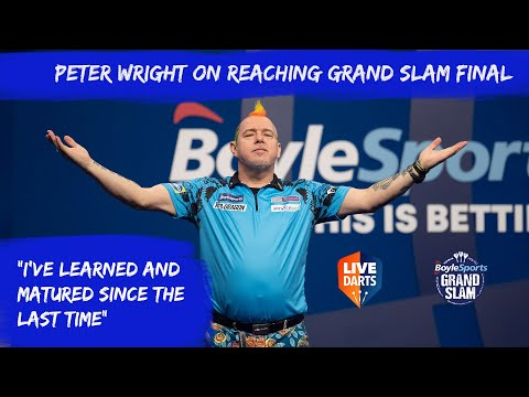 """Peter Wright on reaching Grand Slam final: """"I've learned and matured since the last time"""""""