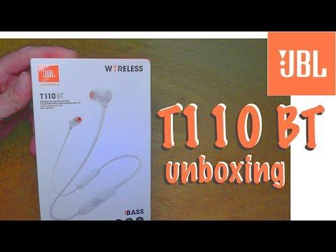 JBL T110 BT pure bass bluetooth in ear headphones - unboxing