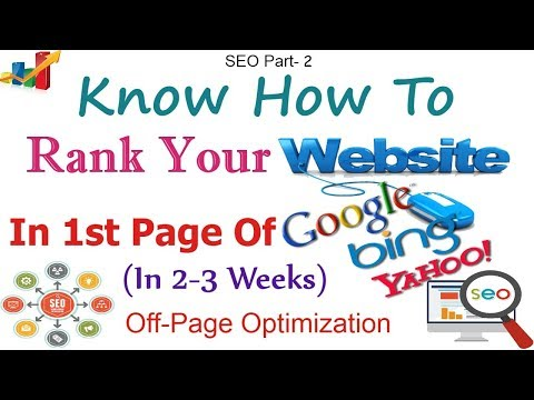 How to Rank Website on Google | Off page optimization | How to increase Alexa rank (Part-2)