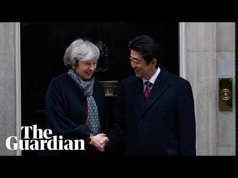Theresa May with Japan's PM Shinzo Abe – watch live