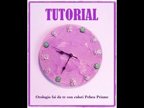 Come creare un orologio da parete e decorarlo con pebeo prisme e resine gioiello youtube - Orologio design parete ...