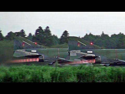 Afterburner Takeoff Night mission RF-4 Phantom II  HYAKURI AB JASDF 百里基地