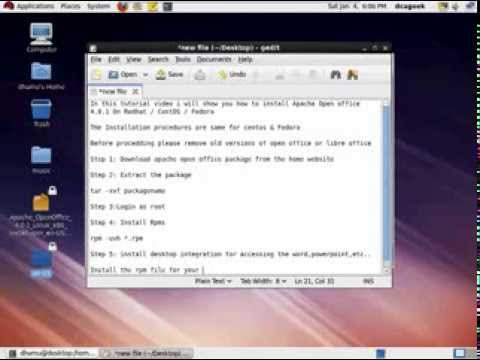 How To Install Open Office 4 0 1 On CentOS / Redhat / Fedora