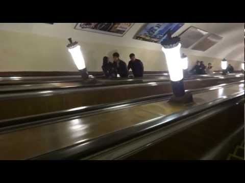 Ride on the Moscow, Russia metro