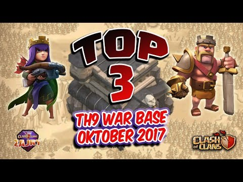 TOP 3 | TH9 WAR BASE OCTOBER 2017 | STRONG BASE WAR | CLASH OF CLANS