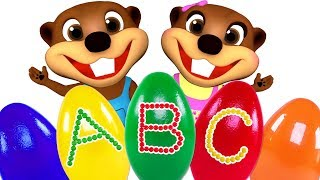 ABC Surprise Eggs Opening | Teach ABC Song for Children | Le...