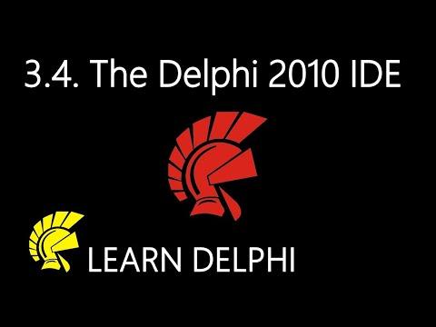 Delphi Programming Tutorial - Unit 3.4: The Delphi 2010 Integrated Development Environment